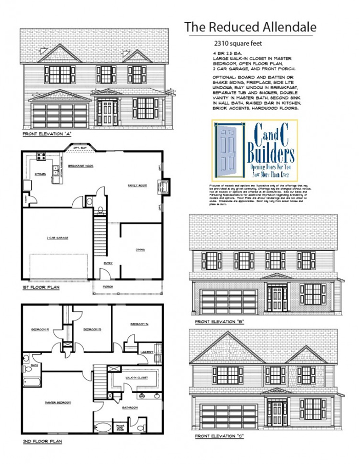 Reduced Allendale Floorplan